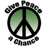Dé a paz una oportunidad Fotos de archivo