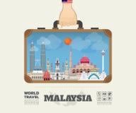 Dé a señal de Malasia que lleva el viaje y el viaje globales Imagen de archivo libre de regalías