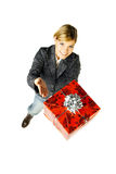 Dé un regalo 2 imágenes de archivo libres de regalías