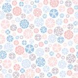 Dé a vector en colores pastel abstracto exhausto de los copos de nieve de la Navidad el fondo inconsútil del modelo Nordic de las ilustración del vector