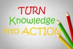 Dé vuelta al conocimiento en concepto de la acción ilustración del vector