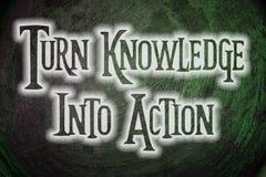 Dé vuelta al conocimiento en concepto de la acción Fotografía de archivo libre de regalías