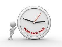 ¡Dé vuelta detrás al tiempo! Imagen de archivo libre de regalías