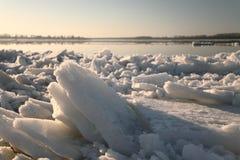 Débâcle de la Volga Image libre de droits