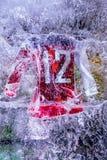 Débardeur d'hockey avec le numéro 12 Images libres de droits