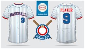 Débardeur de base-ball, uniforme de sport, sport raglan de T-shirt, short, calibre de chaussette Moquerie de T-shirt de base-ball illustration libre de droits