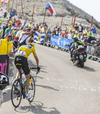 Débardeur jaune sur Mont Ventoux - Tour de France 2013 Images stock
