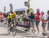 Débardeur jaune sur Mont Ventoux - Tour de France 2013 Photographie stock