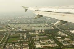 Débarquement à Changhaï à l'aéroport de Pudong Photographie stock libre de droits