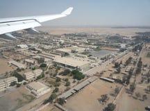 Débarquement à l'aéroport de désert Photo libre de droits