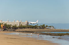 Débarquement de vols d'Air Europa Photo stock