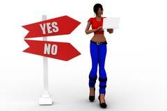 débit-crédit de bénéfice des femmes 3d Photos libres de droits