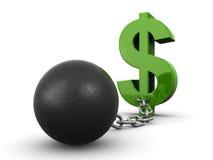 Débito do dólar ilustração royalty free