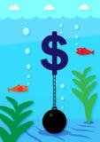 Débito do dólar Foto de Stock