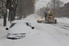Déblaiement de neige Image libre de droits