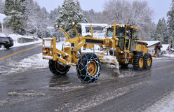 Déblaiement de neige images libres de droits