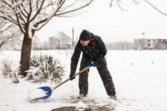 Déblaiement de neige Photographie stock libre de droits