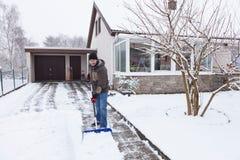 Déblayement de neige Photographie stock