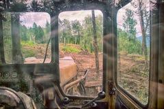 Déboisement de destruction de couverture de forêt Photographie stock libre de droits
