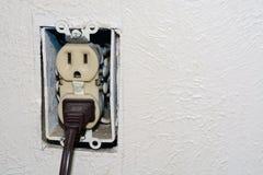 Débouché électrique dangereux Photographie stock libre de droits