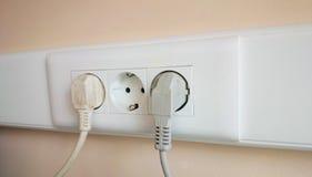 Débouché électrique triple Photos stock