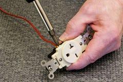 débouché de 220 volts Image libre de droits