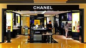 Débouché de cosmétiques de Chanel photos libres de droits