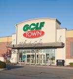 Débouché de ville de golf Photographie stock libre de droits