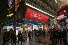 Débouché de WEGO à la rue de Dotonbori en Osaka Japan photos stock