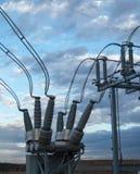 Débranchement électrique pour la production d'électricité Photographie stock