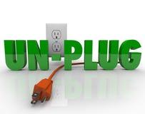 Débranchez le pouvoir électrique de l'électricité de sortie de cordon Photographie stock
