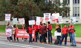 Teacher protest walkout, Oakland, CA