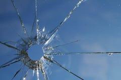 Débris cassés en verre de fissures photo libre de droits