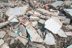 Débris concrets de blocaille images stock
