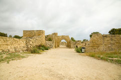 Débris de Césarée Image stock