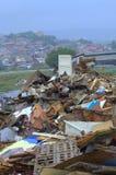 Débris de cabanes, taudis de Maksuda, Varna Images libres de droits