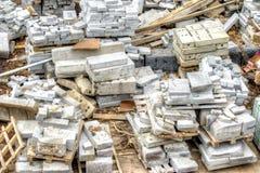 Débris des matériaux de construction photo stock