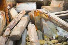 Débris et blocaille de construction effondrée Image libre de droits