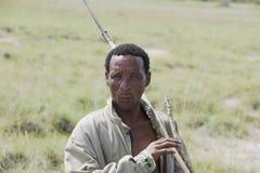 Débroussailleur indigène en Afrique Images libres de droits