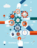 Début d'affaires et d'affaires d'esprit d'entreprise Image stock