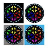 Début d'amour de paix de couleur d'univers de mandala Photographie stock libre de droits