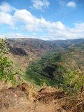 Début de canyon de Waimea, Kauai, Hawaï Photographie stock libre de droits