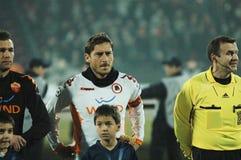 Début de COMME Roma - allumette de CFR Cluj Images libres de droits