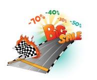 Début de grande vente illustration stock
