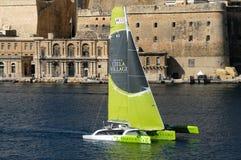 Début de la course moyenne de mer de Malte Rolex photo stock