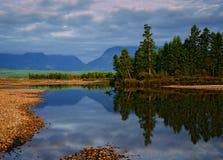 Début de la matinée à l'arête de Kodar en Sibérie orientale Images stock