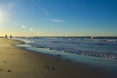 Début de la matinée à la plage Photos libres de droits