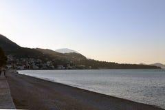 Début de la matinée à la plage images stock
