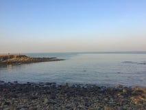 Début de la matinée au bord de la mer Image stock