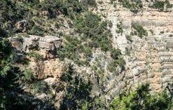 Début de la matinée au-dessus des falaises du parc national de Grand Canyon L'Arizona, Etats-Unis Images libres de droits